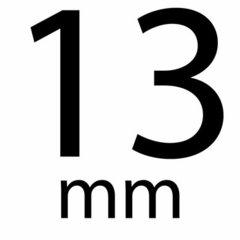 Satijnband stip 13 mm