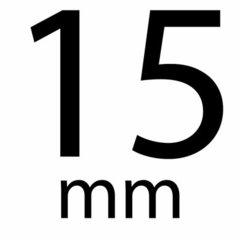 Satijnband stip 15 mm