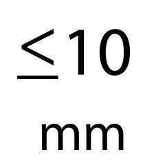 t/m 10 mm