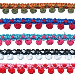 2-kleurig bolletjesband