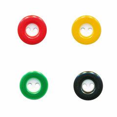 Knopen met gekleurde rand