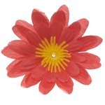 Gerbera rood stof klein ca. 6,5 cm (10 stuks)