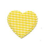 Applicatie ruitjes hart geel middel 35 x 30 mm (ca. 100 stuks)