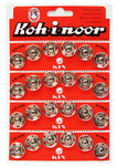 Opnaaibare drukknoop KIN nr. 7 18/18,9 mm nikkel (24 stuks)