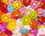 Kinderknoopje smiley MIX kleuren ca. 15 mm (ca. 200 stuks)