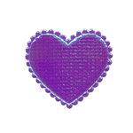 Applicatie glim hart paars middel 35 x 30 mm (ca. 25 stuks)