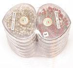 Hartvormige doosjes met kunststof kopspelden 40 mm (12 x 120 stuks)