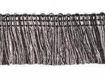 Tweekleurig franjeband zwart-grijs ca. 32 mm (ca. 16 meter)