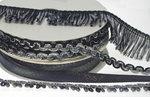 Multicolor zig zag band zwart-grijs-antraciet-metallic 9 mm (ca. 10 m)