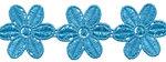 Blauw bloemband 50 mm (ca. 4 m)