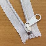 Eindstop voor nylon rits zilverkleurig maat 5 (ca. 50 stuks)