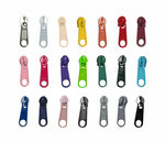 START-SET: 20 kleuren nylon rits incl. ritsschuivers maat 3 (100 meter + 210 schuivers)