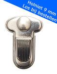 Metalen tas sluiting zilverkleurig ca. 25x33 mm (10 stuks)