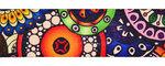 Tassen-/gitaarband 2-zijdig bedrukt 50 mm - fantasy cirkels (5 m)