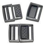 'Center release' klikgesp zwart kunststof 20 mm (10 stuks)