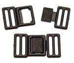 Riemgesp zwart kunststof 25 mm (10 stuks)