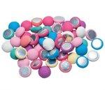 Flatback / stofknoop pastel tinten ca. 14 mm (ca. 100 stuks)