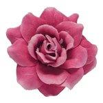 Roos fuchsia stof ca. 4,5 cm (10 stuks)