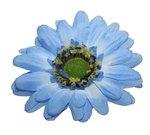 Gerbera blauw stof groot ca. 10 cm (5 stuks)
