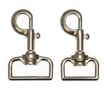 Metalen musketonhaak/sleutelhanger zilverkleurig 33 mm (10 stuks)_