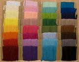 START-SET: 32 kleuren piping-/paspelband STANDAARD - 2 mm koord, elk 10 meter (ca. 320 meter)_