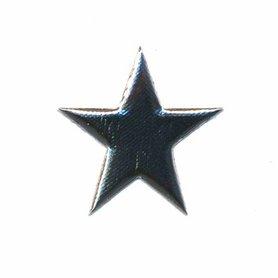 Applicatie glim puntige ster zilver 30 mm (ca. 100 stuks)