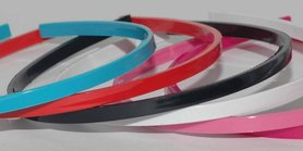 Diadeem om zelf te bekleden 7 mm mix van 6 kleuren sporty (6 stuks)
