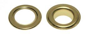 Nestels 15 mm (maat #30) goudkleurig staal (ca. 50 sets)