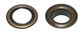 Nestels 15 mm (maat #30) bronskleurig staal (ca. 50 sets)