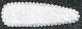 Haarkniphoesje fluweel wit 5 cm (ca. 100 stuks)