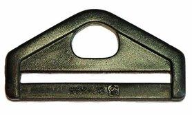D-ring driehoekig zwart kunststof 50 mm (10 stuks)