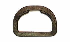 D-ring rond zwart kunststof 30 mm (10 stuks)