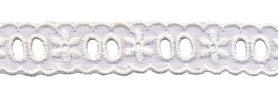 Broderie om bandje doorheen te vlechten wit 20 mm TS02440 (ca. 13,5 m)