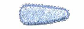 Haarkniphoesje fluweel licht blauw 3 cm (ca. 100 stuks)