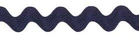 Donker blauw zig-zag band 7 mm (ca. 32 meter)