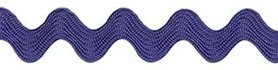 Kobalt blauw zig-zag band 7 mm (ca. 32 meter)
