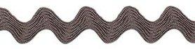Antraciet zig-zag band 7 mm (ca. 32 meter)