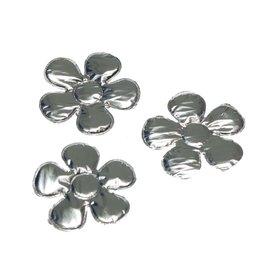 Applicatie bloem zilver klein 27 mm (ca. 100 stuks)