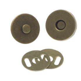 Magneetsluiting bronskleurig 18 mm (10 stuks)