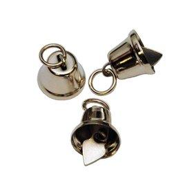 Klokvormige belletjes zilverkleurig 13 mm (ca. 25 stuks)