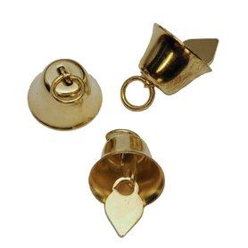 Klokvormige belletjes goudkleurig 16 mm (ca. 25 stuks)