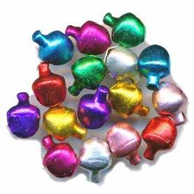Belletjes mix kleuren 6 mm (ca. 200 stuks)
