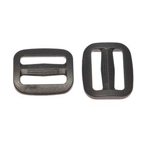 Schuifgesp zwart kunststof SLANK 20 mm (100 stuks)