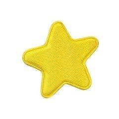 Applicatie ster geel satijn effen middel 30 mm (ca. 100 stuks)