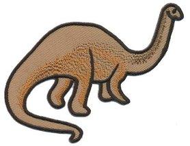 Opstrijkbare applicatie langnek dinosaurus bruin (5 stuks)