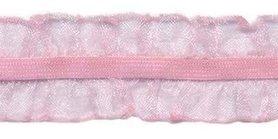 Roze roezel elastiek 2-zijdig 25 mm (ca. 10 meter)