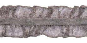 Grijs roezel elastiek 2-zijdig 25 mm (ca. 10 meter)