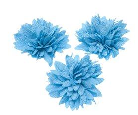 Bloem XL stof chrysant aqua ca. 7 cm (5 stuks)