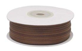 Bruin dubbelzijdig satijnband 4 mm (ca. 90 m)
