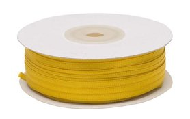 Okergeel dubbelzijdig satijnband 4 mm (ca. 90 m)